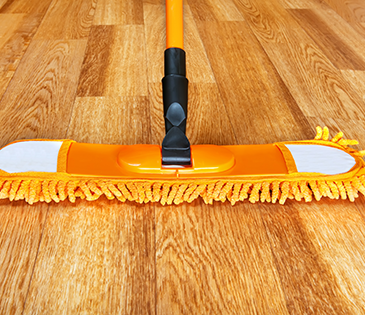 Mop cleaning hardwood floor